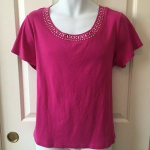 💥 Dress Barn Hot Pink T-shirt 2X